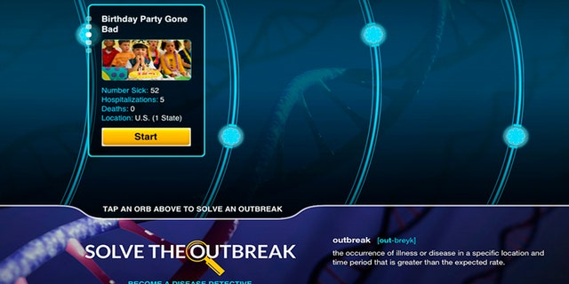The new CDC app allows users to run through fictional outbreaks and make decisions about quarantines and investigative steps.