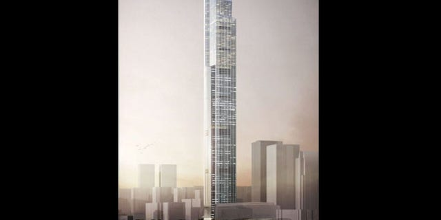 An artist's rendition of the the completed Guangzhou CTF Finance Center.