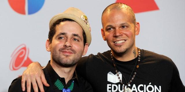 Visitante and Rene Perez Joglar in a 2011 file photo.