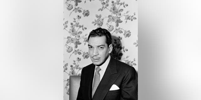 """October 24, 1949: Mexican comedian and actor Mario Moreno known as """"Cantinflas"""" poses for a photo at an unknown location in New York City. Moreno is remembered in Hollywood for his roles in """"Pepe,"""" 1961 and """"Around the World in 80 Days,"""" 1957, for which he won a Golden Globe award for best actor in a comedy or musical."""
