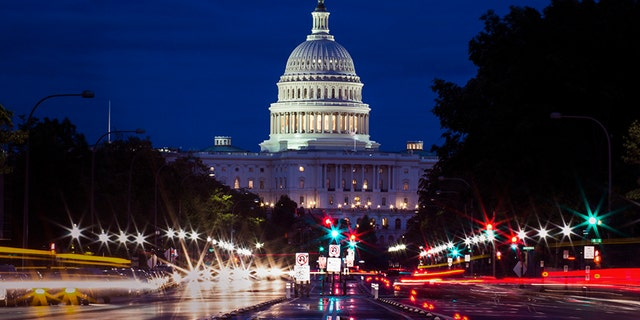 Capitol building with city foreground - Washington DC