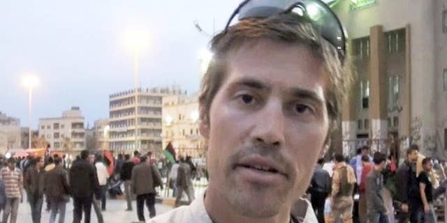 British intelligence apparatus worked tirelessly to identify Emwazi after he first appeared in an ISIS video back in 2014 with American journalist James Foley (pictured) who was beheaded off-camera after reading a prepared statement criticizing the U.S.