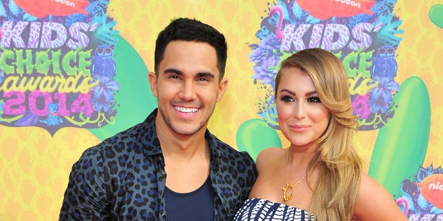 Carlos Pena Jr. and Alexa Vega on March 29, 2014 in Los Angeles, California.
