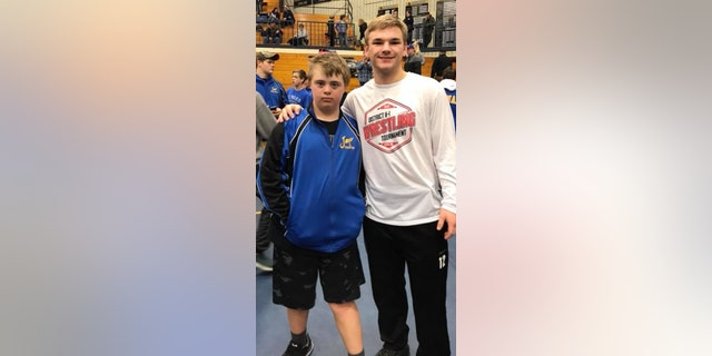 """Today at district wrestling a young man, Austin Middleton, showed true character,"" wrote Caroline Fehlhafer."