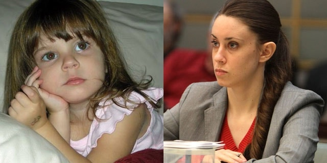 Casey Anthony, right, is accused of first-degree murder in the 2008 death of her toddler daughter, Caylee, left.