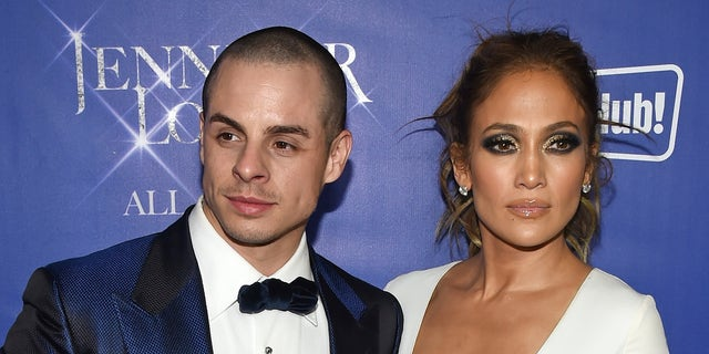 """LAS VEGAS, NV - JANUARY 21:  Choreographer/dancer Beau """"Casper"""" Smart (L) and singer/actress Jennifer Lopez attend the after party for her residency """"JENNIFER LOPEZ: ALL I HAVE"""" and the grand opening of Mr. Chow at Caesars Palace on January 21, 2016 in Las Vegas, Nevada.  (Photo by Ethan Miller/Getty Images)"""