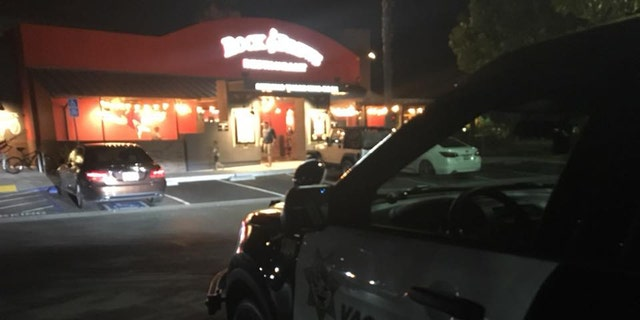 Police say the man fled to a nearby Rock & Brews restaurant, where he was ultimately apprehended.
