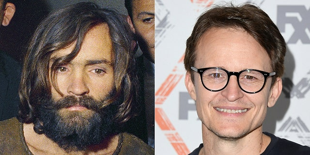 """Charles Manson (left) will reportedly be played by Damon Harriman (right) in """"Once Upon a Time in Hollywood."""""""