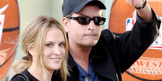 Charlie Sheen and wife Brooke Mueller