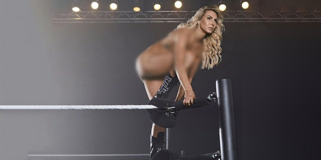 Charlotte Flair poses for ESPN's 2018 Body Issue.