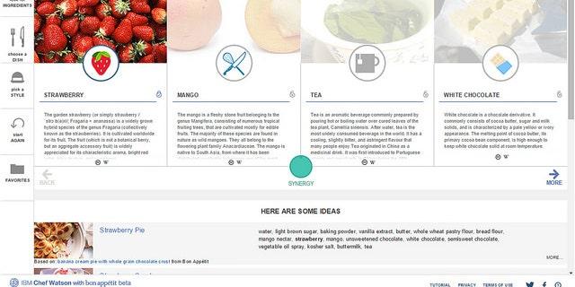 The Chef Watson app