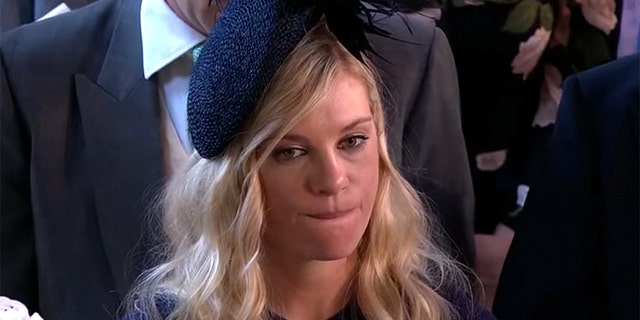 Chelsy Davy's somber look at Prince Harry's wedding to Meghan Markle sparked headlines.