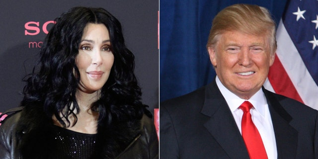 "Cher and Donald Trump got into a Twitter war when she referred to his hair as ""his rug."""