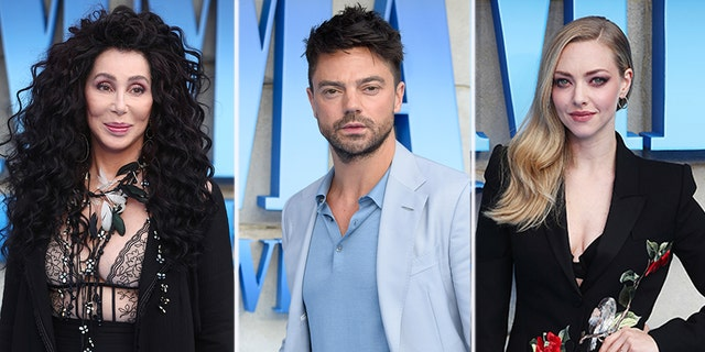 """Mamma Mia! Here We Go Again"" stars Cher, Dominic Cooper and Amanda Seyfried."