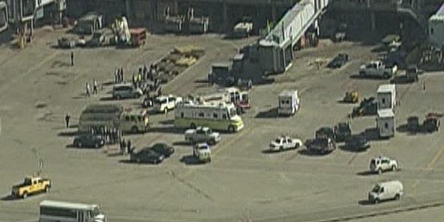 Nov. 1: Emergency crews respond to a Hazmat situation at O'Hare Airport.