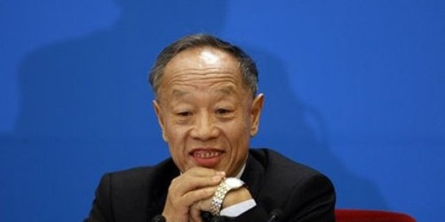 Mar. 4, 2012: Li Zhaoxing, spokesperson of the National People's Congress attends a press conference held on the eve of the National People's Congress at the Great Hall of the People in Beijing, China.