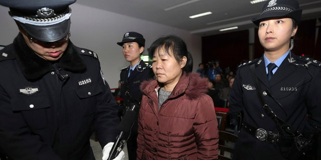 Dec. 30: Zhang Shuxia, an obstetrician involved in baby trafficking, stands trial in Weinan Intermediate People's Court in Weinan, Shaanxi province.