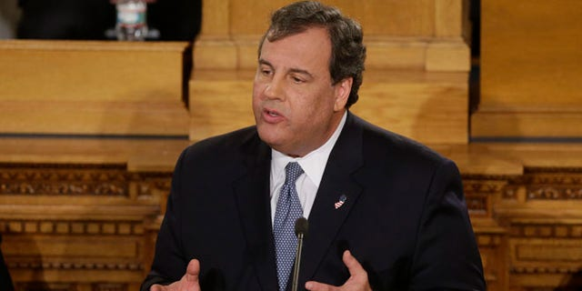 New Jersey Gov. Chris Christie delivers his State Of The State address at the Statehouse, Jan. 14, 2014, in Trenton, N.J.