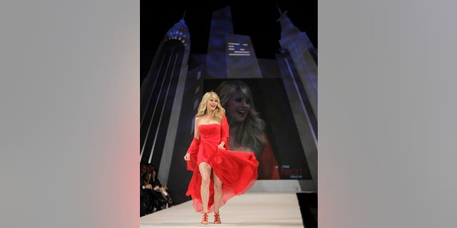 Feb. 8: Christie Brinkley walks the runway at the Heart Truth's Red Dress Fashion Show (AP)