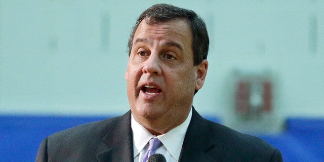 Dec. 17, 2014: New Jersey Gov. Chris Christie addresses students, teachers and parents at Mendham Township Middle School in Mendham Township, N.J., after a student asked if he was going to run for President. (AP)