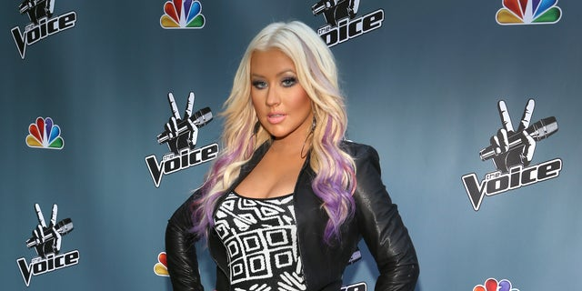 """LOS ANGELES, CA - AUGUST 12:  The Voice's Christina Aguilera attends the NBCUniversal's """"The Voice"""" Press Junket and cocktail reception on August 12, 2012 in Los Angeles, California.  (Photo by Christopher Polk/Getty Images for NBCUniversal)"""