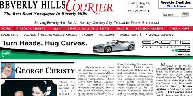 A sneak peek of George Christy's new column.
