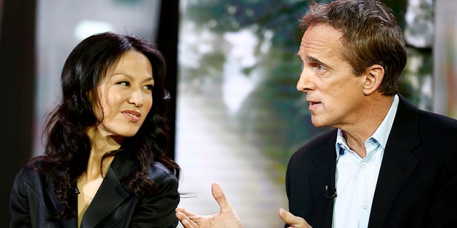 Yale Law Professor Amy Chua, left, and husband, Yale Law Professor Jed Rubenfeld, right, have a daughter who clerks for Judge Brett Kavanaugh.