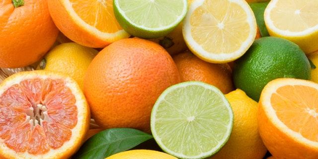 Lemon, lime, tangerine, orange  and grapefruit background
