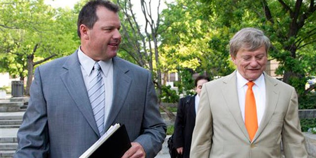 April 16, 2012: Former Major League Baseball pitcher Roger Clemens, and his attorney Rusty Hardin, arrive at federal court in Washington for jury selection in the perjury trial on charges that he lied when he told Congress he never used steroids and human growth hormone.