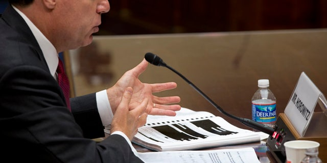 Sept. 20, 2012: Michael Horowitz, the Justice Department's inspector general, testifies before the House Oversight and Government Reform Committee.