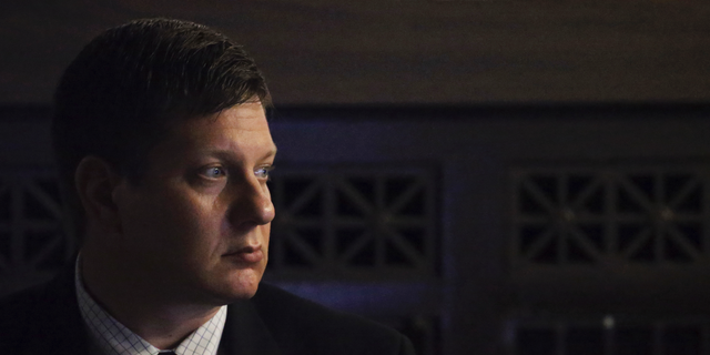 Chicago Police Officer Jason Van Dyke listens during his trial for the shooting death of Laquan McDonald, at the Leighton Criminal Court Building, Monday, Sept. 17, 2018 in Chicago. (Antonio Perez/ Chicago Tribune via AP, Pool)