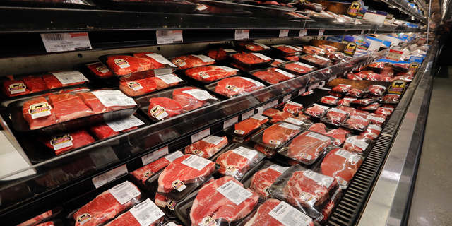 FILE- In this July 11, 2018, file photo meat is displayed at a grocery store in River Ridge, La. On Thursday, Sept. 13, the Labor Department reports on U.S. consumer prices for August. (AP Photo/Gerald Herbert, File)