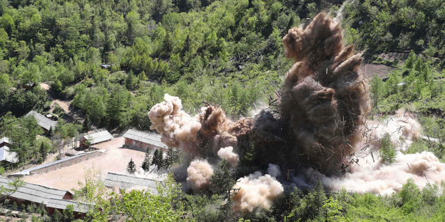 North Korea detonated the command post facilities of its nuclear test site in Punggye-ri, North Korea.