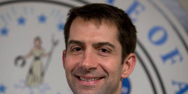FILE: March 11, 2015: Sen. Tom Cotton, R-Ark. on Capitol Hill in Washington, D.C.