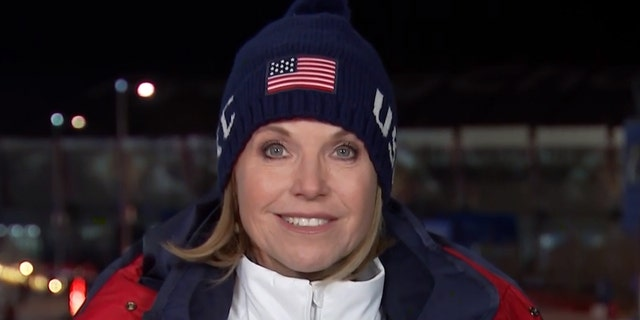 Katie Couric during the 2018 Olympics.