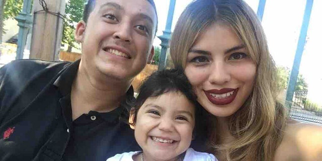 Christopher Lopez, left, and Guadalupe Gutierrez, right, found out two weeks ago they were expecting a second child. The couple had a 4-year-old daughter.