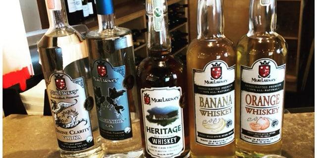 MurLarkey Distillery stamps its logo on all its bottles.