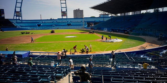 Havana's Latinoamericano stadium on Wednesday, March 16, 2016.