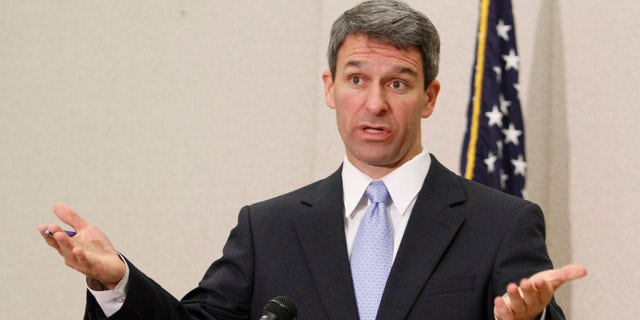 Ken Cuccinelli speaks at a news conference during his time as Virginia attorney general, in Richmond, May 10, 2011. (Associated Press)