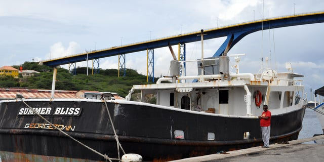 """Nov. 30, 2012: The """"Summer Bliss""""fishing boat sits docked at the Willemstad port in Curacao."""