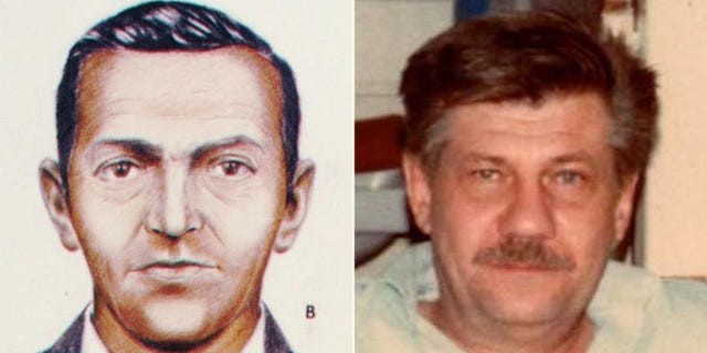 An FBI sketch of D.B. Cooper and Walter Reca during a rare visit home in 1984 during his clandestine years working in the Middle East.