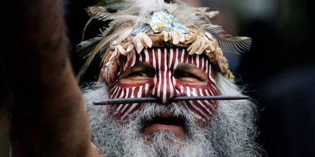 An aboriginal Ngarrindjeri elder from south Australia.