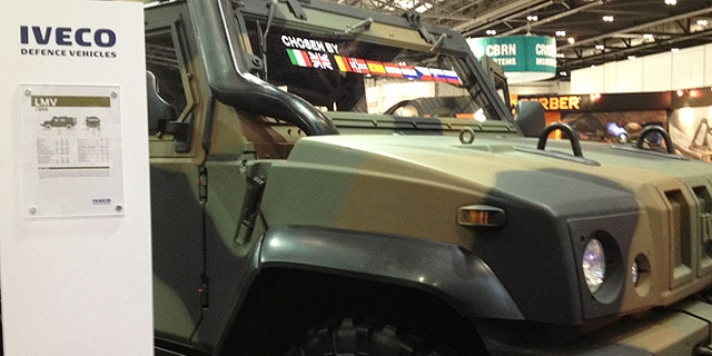 Before unveiling its latest vehicles, Italy's Iveco Defence through a wild party on the floor of the world's largest defense show, amidst a very staid atmosphere in a vast sea of tanks, missiles, surface to air rocket launchers, drones and armored vehicles.