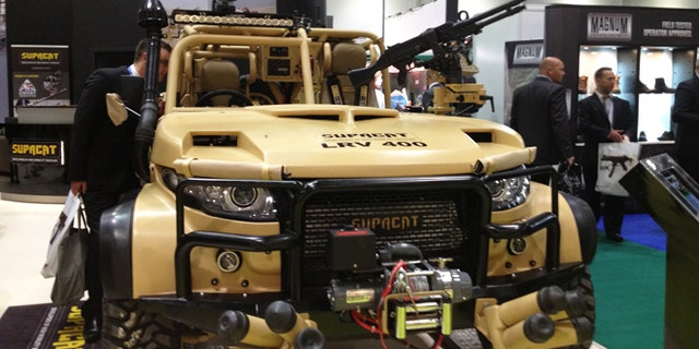 A partnership between race vehicle designers and military suppliers, the high performance , the Light Reconnaissance Vehicle 400 from Supacat can travel over 100 mph.