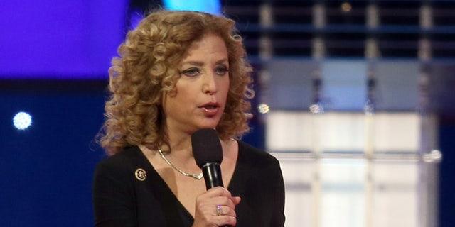 U.S. Rep. Debbie Wasserman Schultz, D-Fla., speaks in Las Vegas, Oct. 13, 2015.