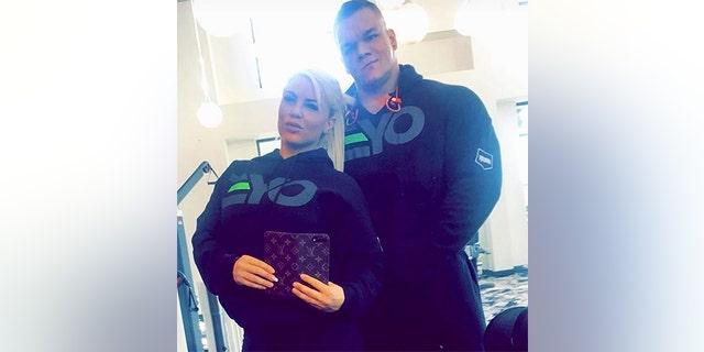WWE star Dana Brooke with late boyfriend Dallas McCarver.