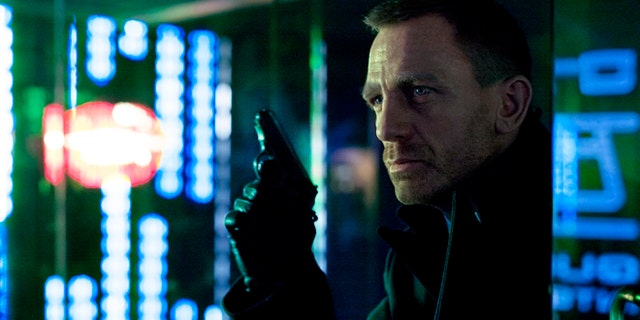 "The first official shot released from ""Skyfall"" of James Bond, portrayed by Daniel Craig in a scene set in Shanghai."