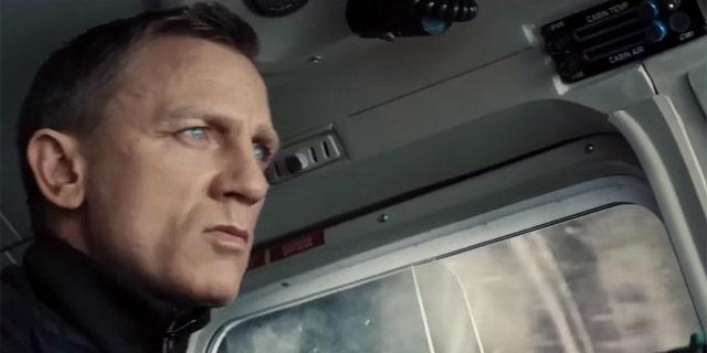 "Actor Daniel Craig as James Bond in ""Spectre."""