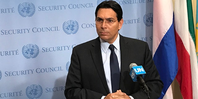 Israeli Ambassador Danny Danon released a previously classified Israeli intelligence document showing a satellite photograph of what he said was an Iranian-run induction and recruitment center close to Syria's capital Damascus, and only 12 miles from the border with Lebanon. (Fox News)