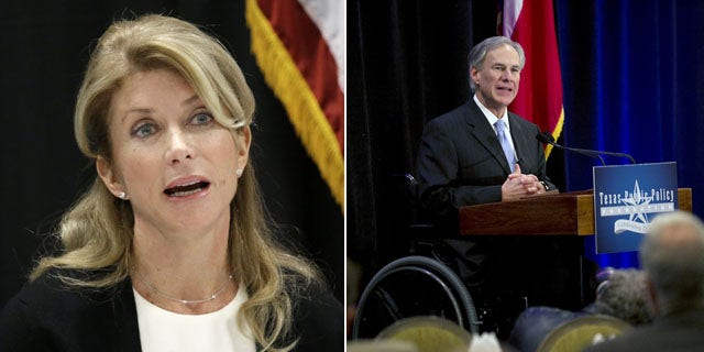 Texas gubernatorial candidates: Democrat Wendy Davis (left) and Republican Greg Abbott (right) (AP Photos)